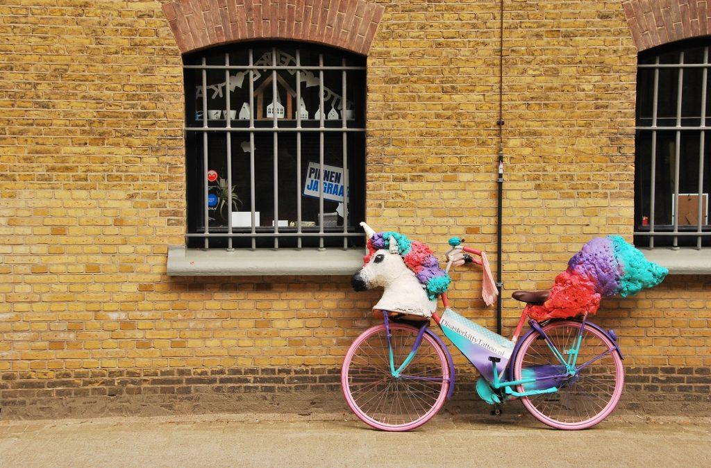 Bilde av enhjørnings sykkel