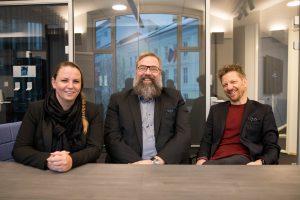 Bilde av De mest populære lederne, Bransjerapporten 2019. Maria Aas-Eng, Paal Fure og Pelle Stensson
