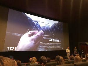 Bilde av Anna Blom Rian og Ole Janzso på performance konferansen 2019