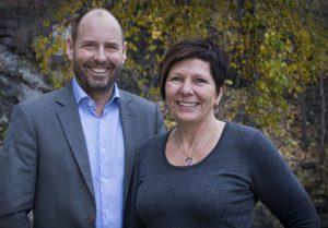 Bilde Marius og Helle i Re:Media