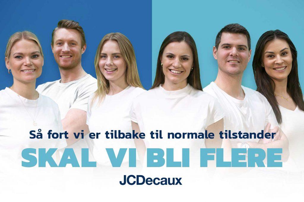 Bilde av flere av de ansatte i JCDecaux