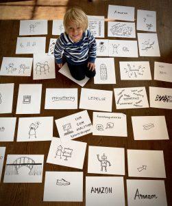Tegnede slider til presentasjon