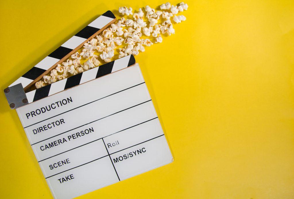 Filmklapper og popcorn