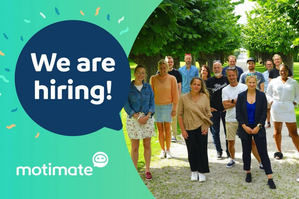 Motimae _we are hiring med bilde av ansate